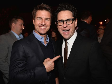 Tom Cruise e J.J. Abrams.