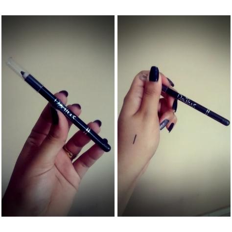 Lápis delineador de olhos Dailus - Cor Preta (também irei fazer resenha desse lápis)