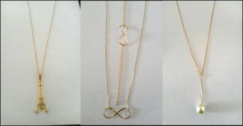 Me apaixonei por esses colares, sério! E são peças coringas que combinam com tudo, além de super delicadas. Essa pulseira de infinito também roubou meu coração. <3