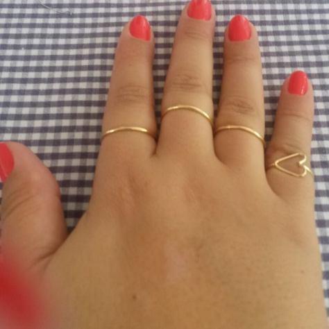 Esse conjuntinho de anéis! Simplesmente me apaixonei! <3